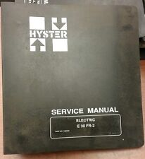 Hyster Service Manual For Electric E30fr 2 1480335