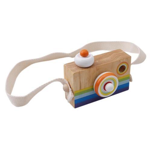 Kids Cute Wood Camera Toy Xmas Children Room Decor Safe Wooden Camera Toys Q