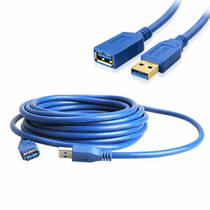 5m 16ft USB 3.0 A Male Plug To A Female Socket Extension Cable Cord Extender New 733180827234