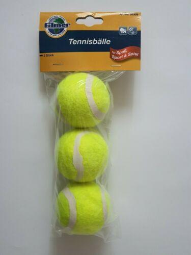 3 Tennisbälle Set Grad B Durchmesser 65mm gelb Material Gummi für Tennis NEU