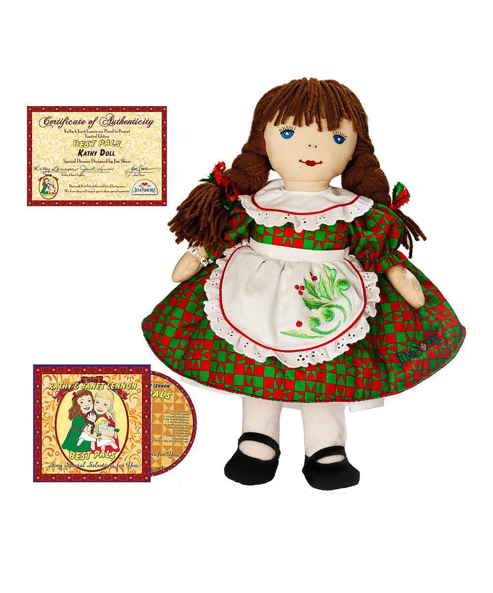 Katjan DIBUJO DE PAJARITO Y NIÑA COLEGAS vacaciones Kathy Navidad conjunto de muñeca y CD de edición limitada año 2011