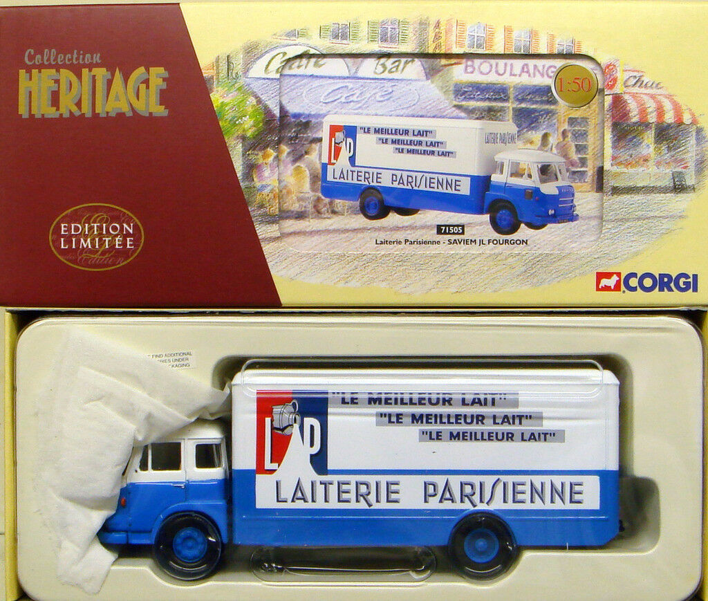 CORGI 71505 1 50 FRENCH HERITAGE Saviem JL Fourgon LAITERIE PARISIENNE Cert. 3