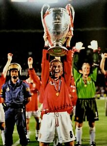 NICKY BUTT SIGNED MANCHESTER UNITED 1999 CHAMPIONS LEAGUE FINAL PHOTO PROOF COA