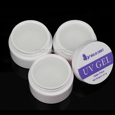 3pcs Nail Art All Clear Builder Gel Decoration Tips For Salon Polish Manicure