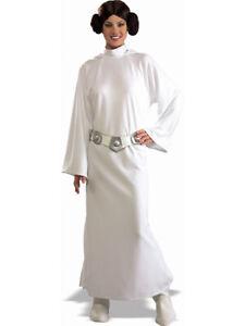 Adulte Std Sous Licence Star Wars Princesse Leia Costume Robe Fantaisie Femme Femelle Bn Ebay