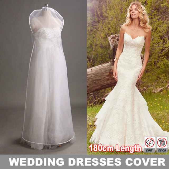 Extra Large 180cm Organza Wedding Dress Cover Bridal Gown Garment ...