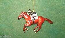 BREYER RACE HORSE CHRISTMAS ORNAMENT - MAN O WAR - KENTUCKY DERBY NIB