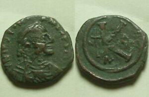 Justinian-I-527AD-follis-Original-Celtic-Barbarous-style-Byzantine-coin-Cross-K