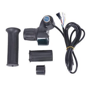 Electric-Bike-Half-Wrist-Throttle-Grip-Handle-LED-Digital-Voltage-BatteryDisp-fo