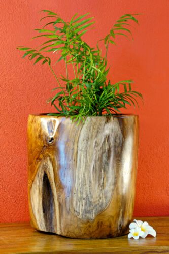 Planter Wood Flowerpot Teak Root Wood Planter Solid Wood Large Rustic