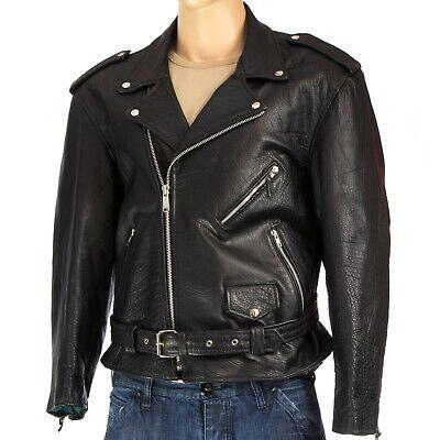 Ausdrucksvoll Lederjacke Brandojacke Biker Motorrad Leather Jacket - Size: 56 (lj440)
