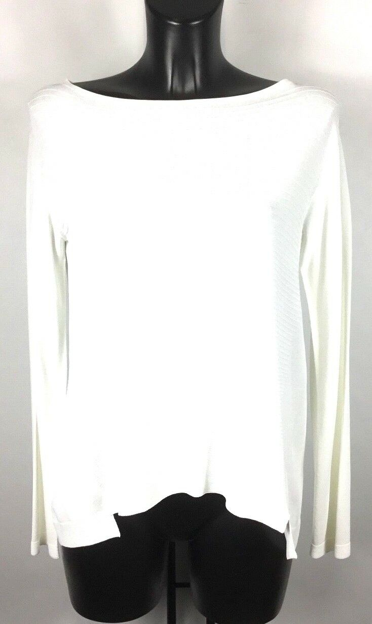 D.EXTERIOR LONG SLEEVE WHITE RIBBED TOP BNWT SIZE M