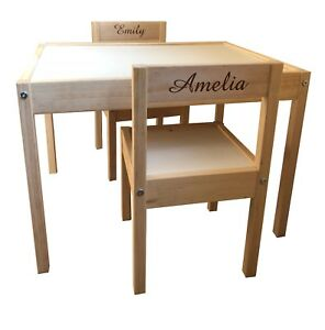 Sedie E Tavoli Da Esterno Ikea.Personalizzato Per Bambini Ikea Tavolo E Sedie 2 Nomi Ebay
