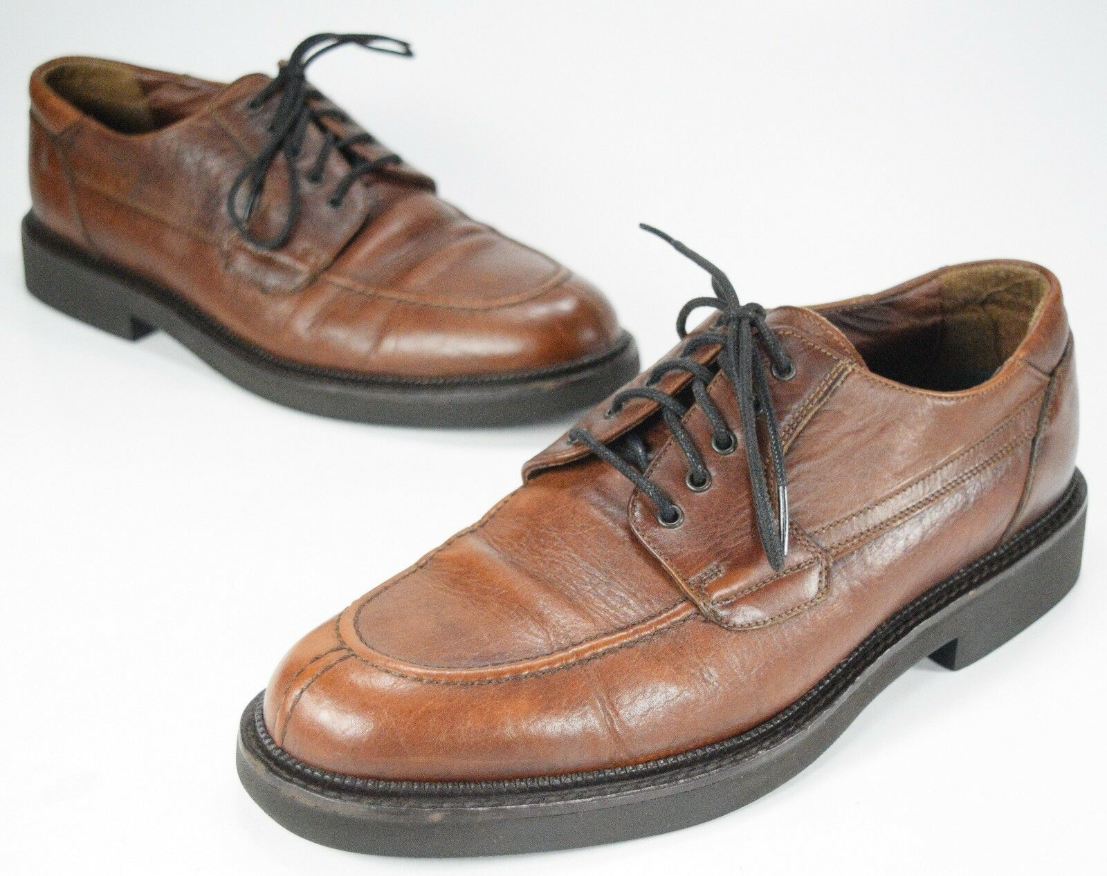 H.S. Trask Brown Full Grain Leather Oxfords Men's Size 11 (M) Split Toe Shoes