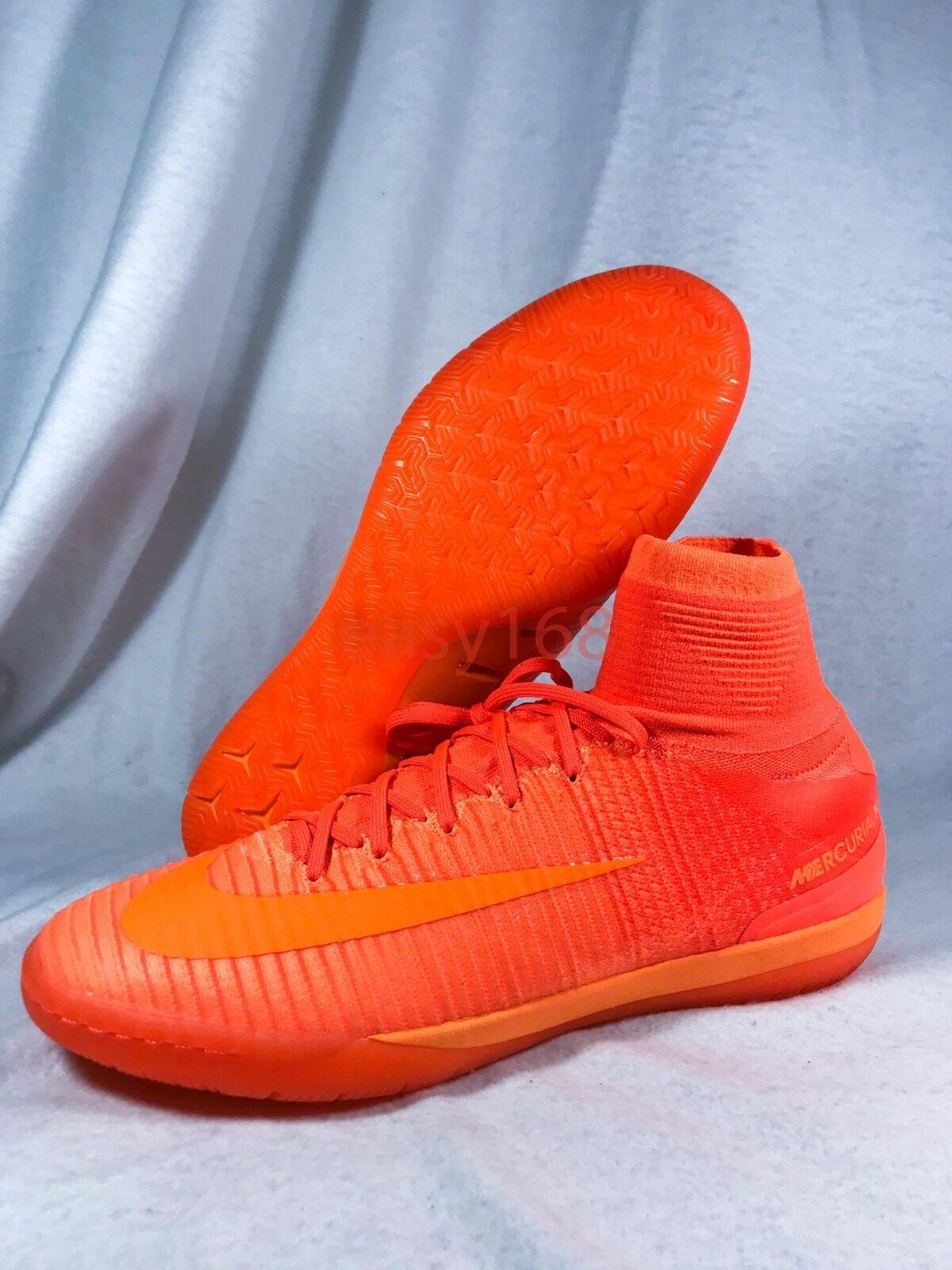 New Nike MercurialX Proximo IC Sz 10 orange 831976-888 Indoor Soccer shoes 44