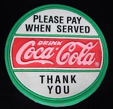 New Lot of 2 Coca-Cola Please Pay When Served Thank You Magnet 1995 Coke