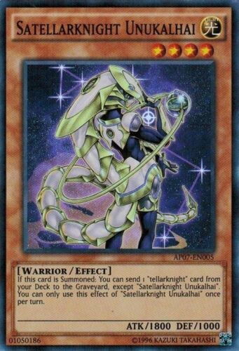 AP07-EN005 Unlimited Edition N Yugioh Super Rare Satellarknight Unukalhai