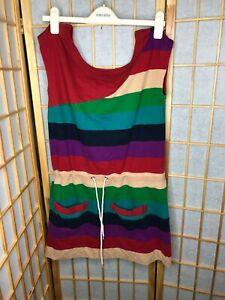 MARC by MARC JACOBS Multicolor stripes pocket Romper Beige Green Red Purple XS