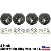 (4) 22004k 12 X 2 Trailer Brake Hub Drum Kit Fi 6.5 For 7000 Lbs Axle on Sale