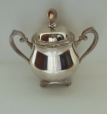Vintage Oneida Silver Plated Sugar Bowl & Lid Oneida Silverplate Silversmiths