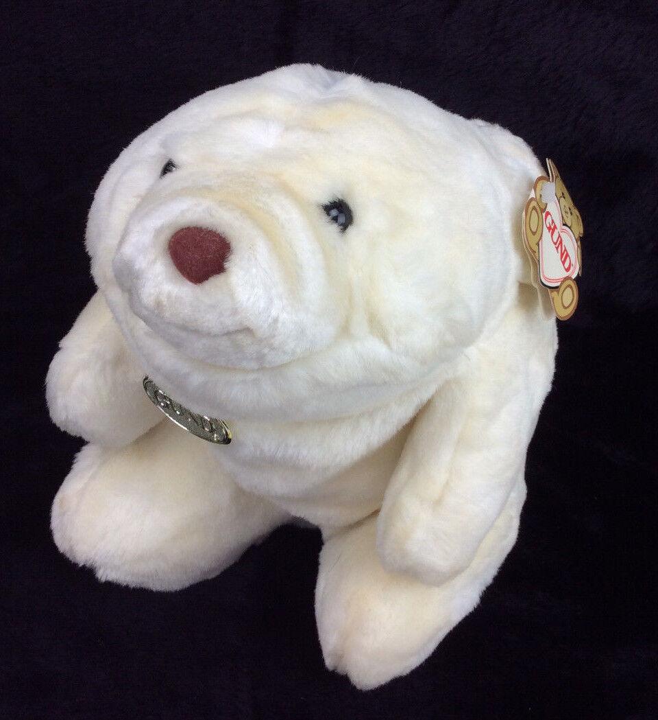 GUND Snuffles White Bear 1980 Tags Plush Stuffed Animal 10  NEW
