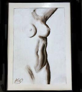 Sensual Nude Pastel/Paper Original drawing Artist J.Cruz