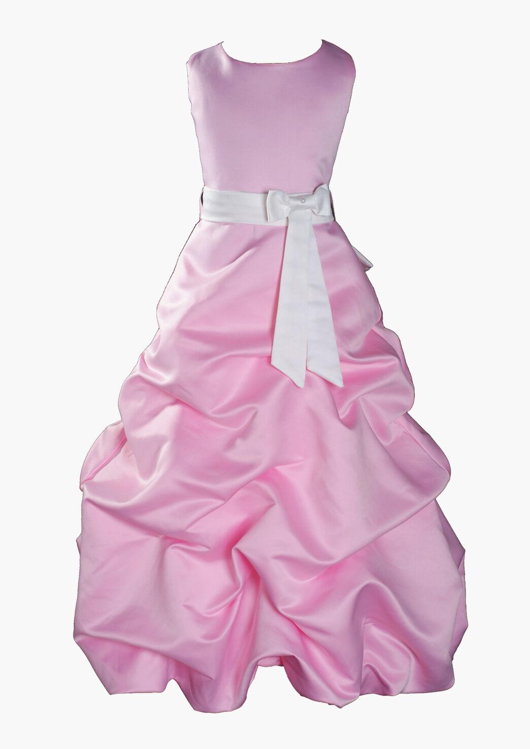 Neu Blaumenmädchen Brautjungfer Schönheitswettbewerb Kleid 1-13 Y Rosa+Sash in  | Charakteristisch  | Sonderaktionen zum Jahresende  | Online Outlet Store