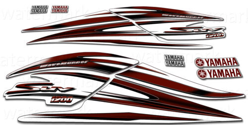 2000 YAMAHA 1200 SUV DECAL KIT WAVERUNNER GRAPHICS 1200 MAROON