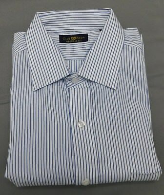 17 1//2-34//35 Club Room Ecru Print Beige Regular Fit Long Sleeve Dress Shirt