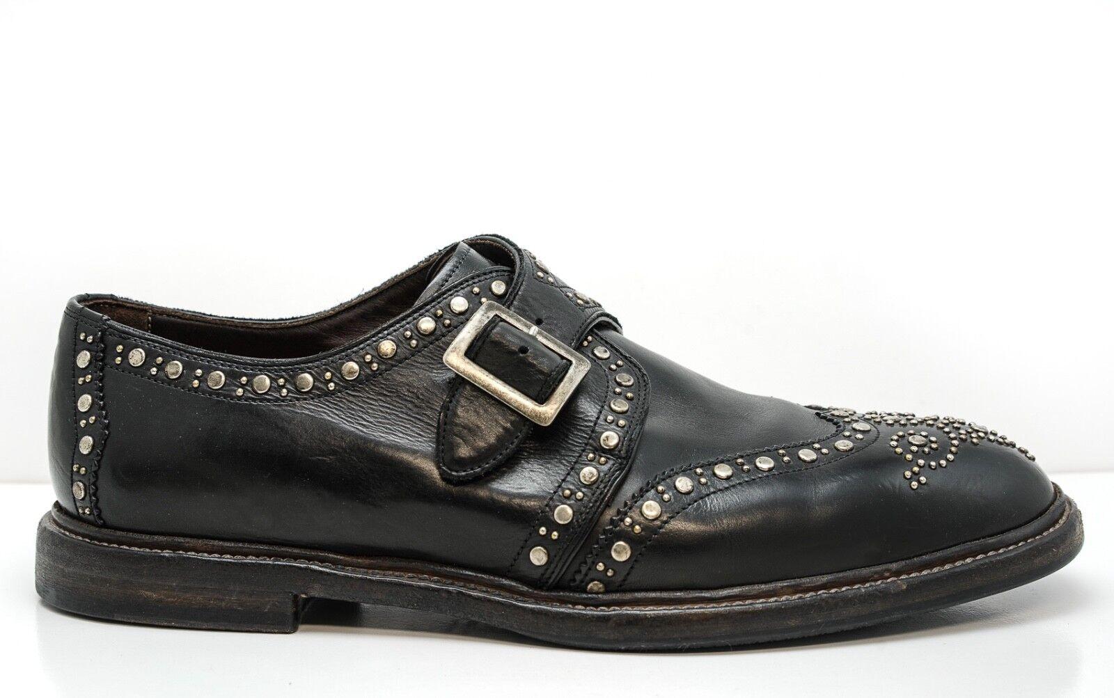 New in Box Dolce & Gabbana Men's Black Stud Shoes CA10114