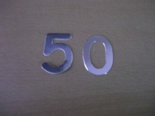 Silver Die Cut Card Numbers Birthday Cardmaking Various 21,40,50,60 /& Mixed