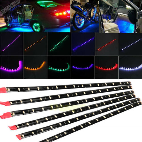 6 Pcs Wasserdichte DC 12 V Motor LED Streifen Unterboden Licht Für Auto W/_4