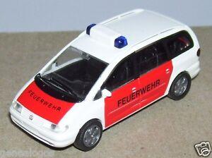 MICRO-RIETZE-HO-1-87-VW-VOLKSWAGEN-SHARAN-FEUERWEHR-FIRE-POMPIERI