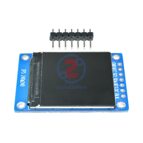 2PCS 1.3/'/' 240x240 IPS Full Color LCD Display Module ST7789 SPI 3.3V for Arduino