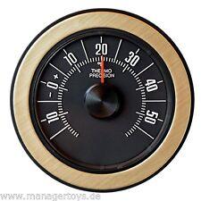Historisches Bimetall Thermometer justierbar aufstellen aufhängen HR Art 1835