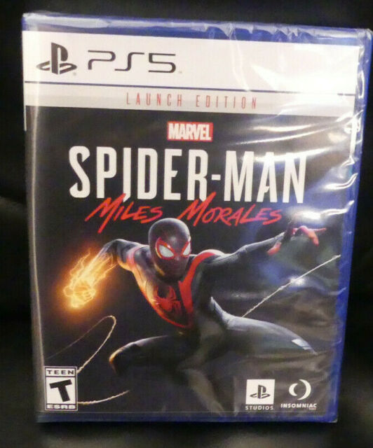 Marvel Spider-Man Miles Morales Launch Edition PS5 PlayStation 5 SEALED