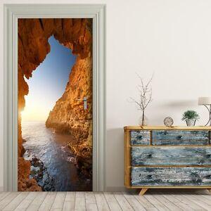 t rtapete selbstklebend t rposter grotte im licht ebay. Black Bedroom Furniture Sets. Home Design Ideas