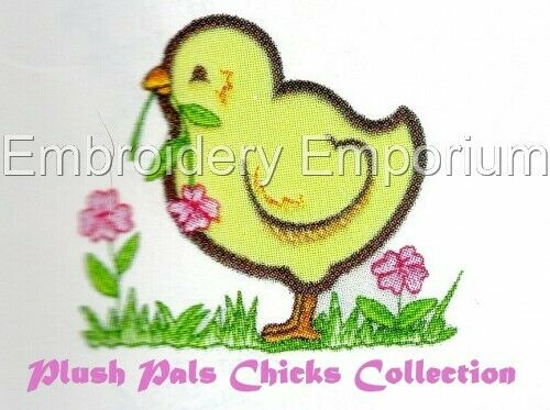 PLUSH PALS CHICKS COLLECTION MACHINE EMBROIDERY DESIGNS ON CD OR USB