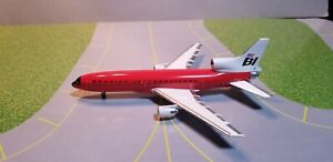 "JXM217 BRANIFF INTERNATIONAL ""RED"" L-1011 1:400 SCALE DIECAST METAL MODEL"