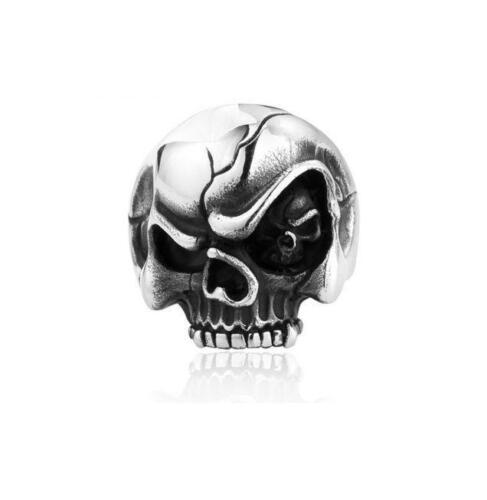 Mal De Ojo Anillo De Calavera Esqueleto Punk Gótico Biker personalidad Para Hombre De Acero Inoxidable