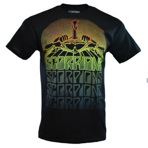 SCORPIONS-Mens-Tee-T-Shirt-Metal-Hard-Rock-Music-Vintage-Tour-S-Sleeve-Black-NEW