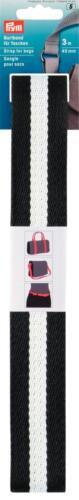 Prym 3 M de cinturón banda para bolsillos 40mm negro//blanco 965200