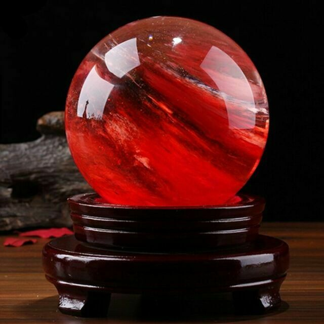 80MM Natural White Calcite Quartz Crystal Sphere Ball Healing Gemstone+Stand