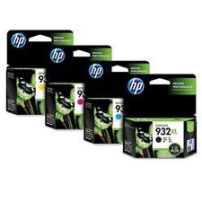 HP Genuine 932XL(B) + 933XL (CMY) Set of 4 Ink Cartridges OEM Box 2017