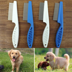 Gato-perro-Metal-cabeza-pelo-mascotas-piojos-peine-pulgas-dentado-fino-h-QA