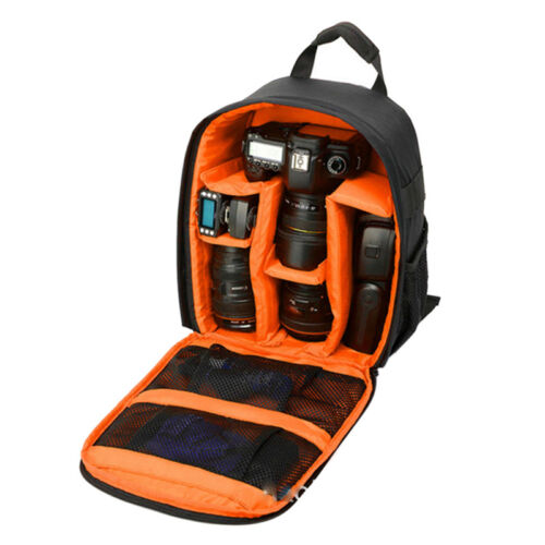 Waterproof DSLR SLR Camera Soft CaseBag Backpack Rucksack For Canon Nikon So WN