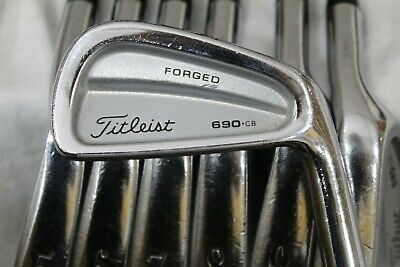 Used Titleist 690.CB Iron Set 4-P S300 Stiff Flex Steel Shafts  | eBay