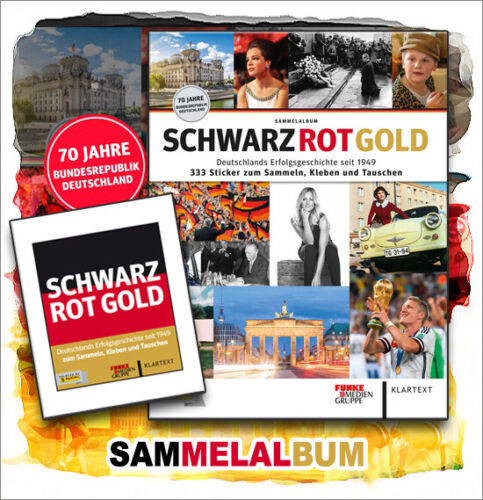 Panini negro rojo oro este álbum album sticker 70 años Alemania