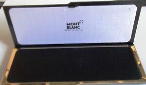 Constructif Caja Fountain Pen Montblanc Mod.lacada Negra 21,5 X 8,5 Cm Esta Vacia AÑos 2010 éLéGant En Odeur