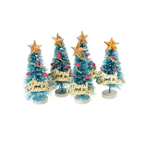 6.5cm High DollHouse Christmas Tree DIY Miniature Decor Photography Props Gift·